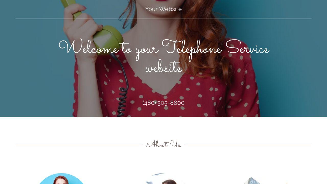 Telephone Service Website Templates | GoDaddy