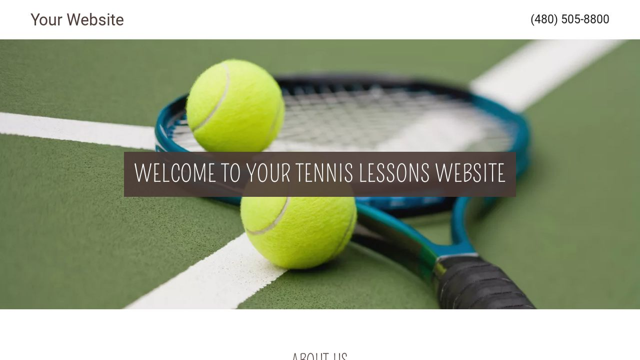 Tennis lessons website templates godaddy tennis lessons example 1 yadclub Images