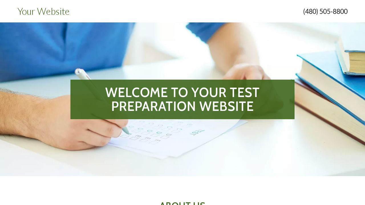 Test Preparation Website: Example 13