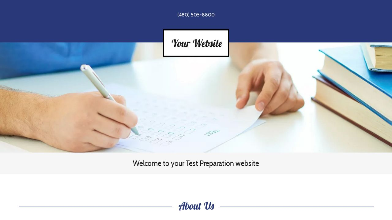 Test Preparation Website: Example 18