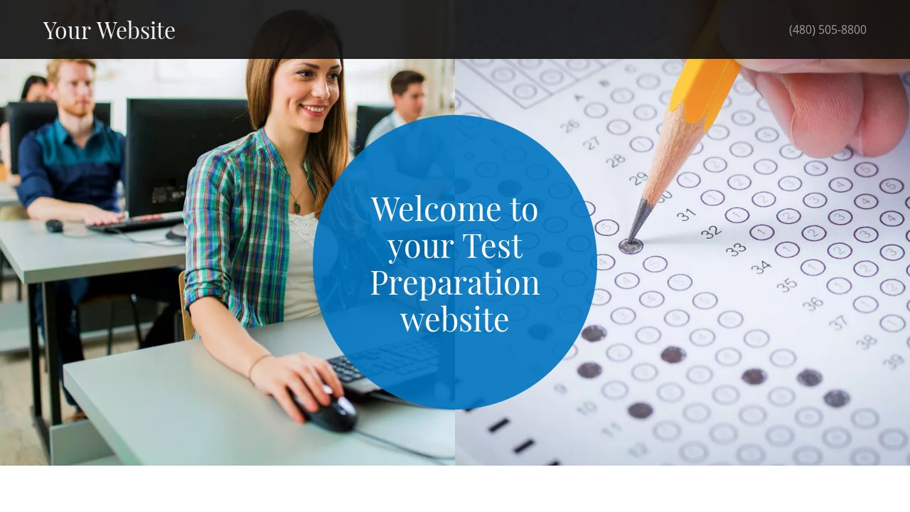 Test Preparation Website: Example 2