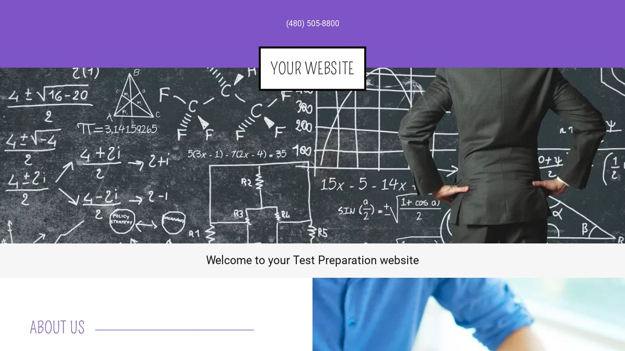 Test Preparation Website: Example 4