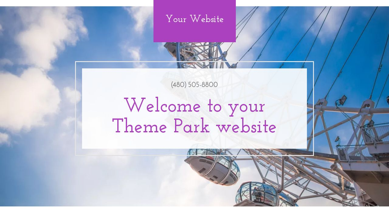 Theme park website templates godaddy theme park example 14 pronofoot35fo Image collections