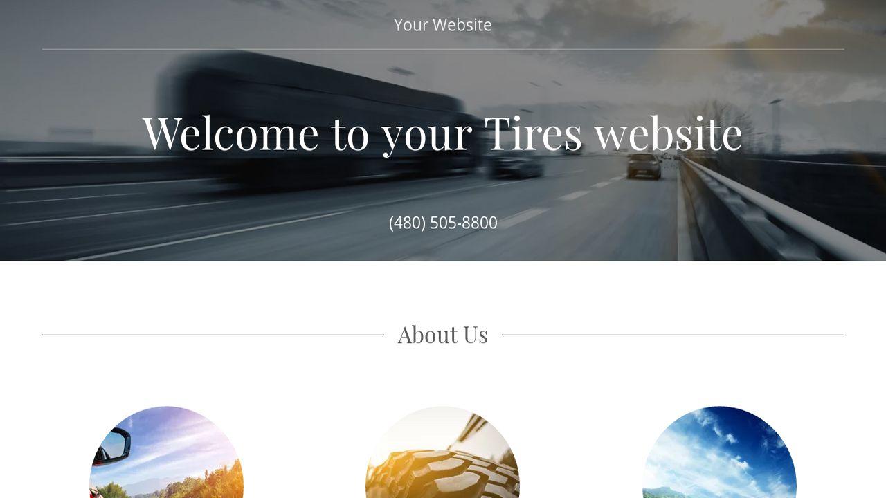 Tires Website Templates | GoDaddy