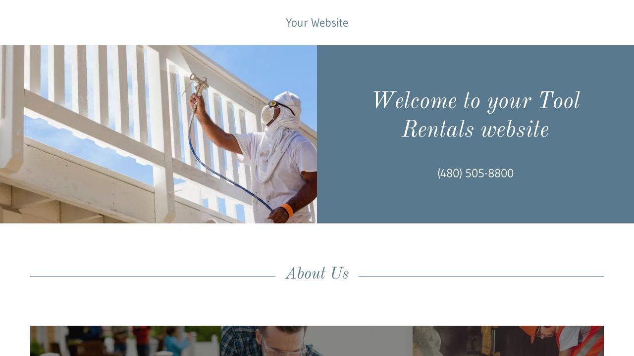 example 14 tool rentals website template godaddy. Black Bedroom Furniture Sets. Home Design Ideas
