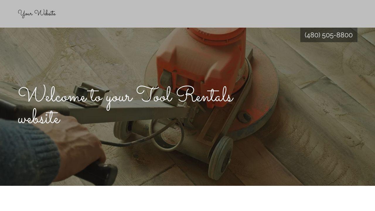 example 7 tool rentals website template godaddy. Black Bedroom Furniture Sets. Home Design Ideas