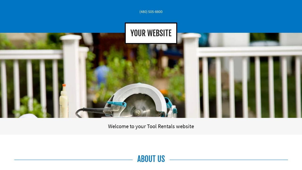 example 16 tool rentals website template godaddy. Black Bedroom Furniture Sets. Home Design Ideas