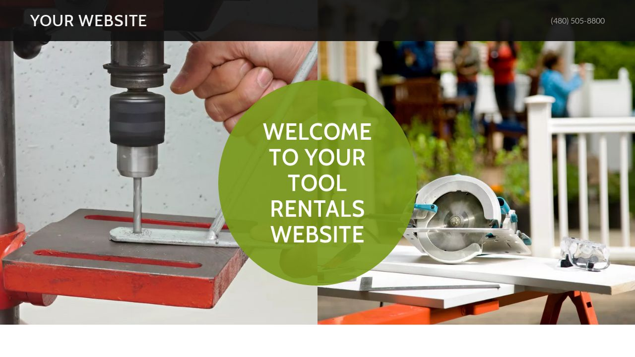 example 6 tool rentals website template godaddy. Black Bedroom Furniture Sets. Home Design Ideas