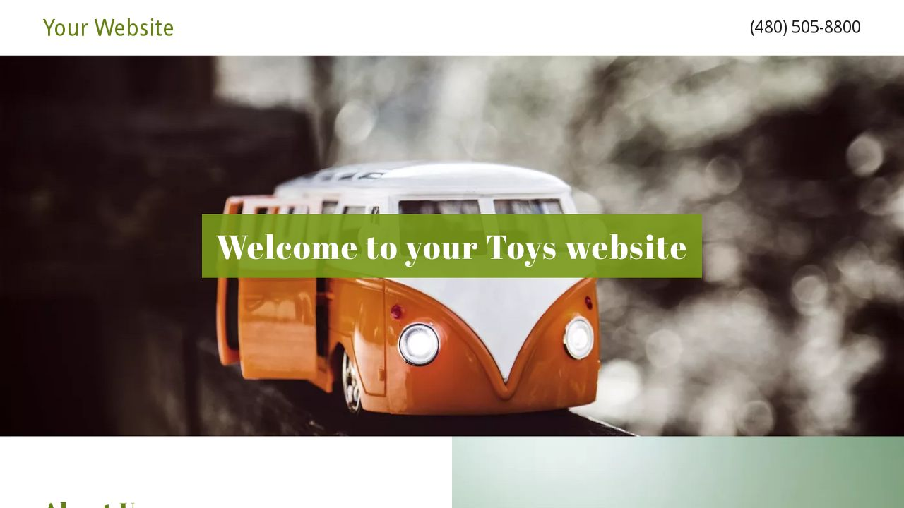 Toys Website: Example 10