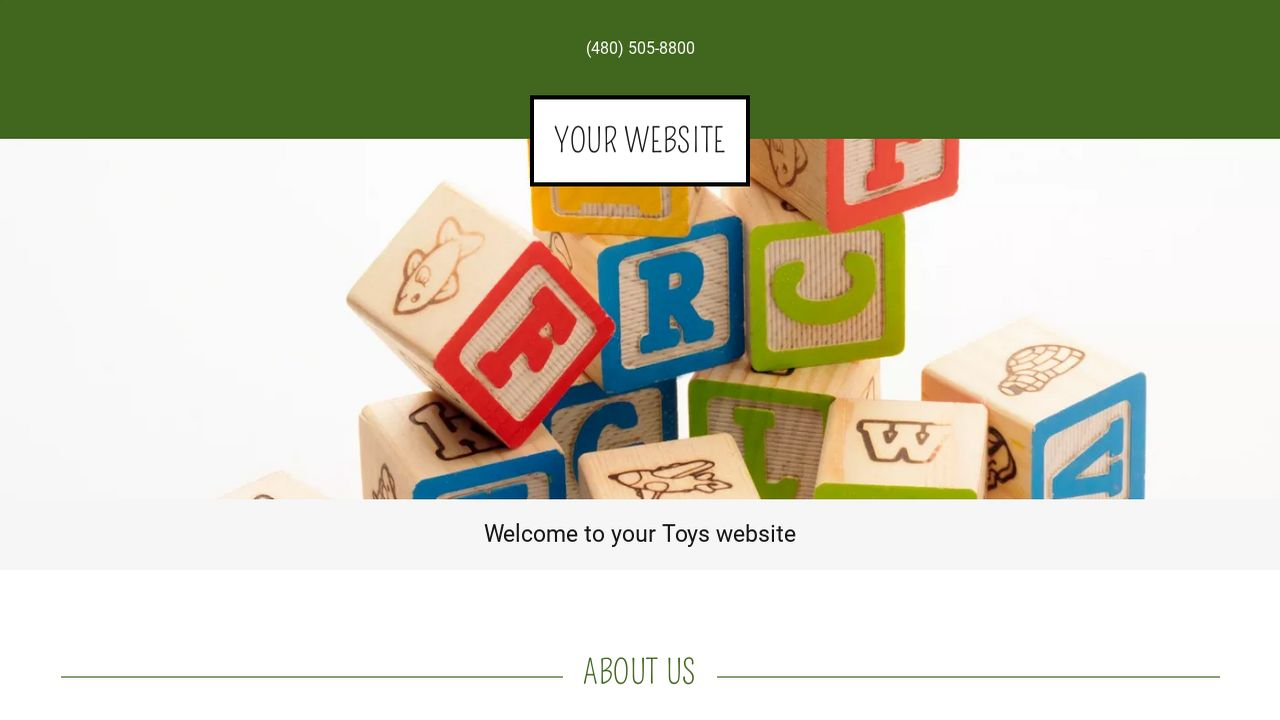 Toys Website: Example 16