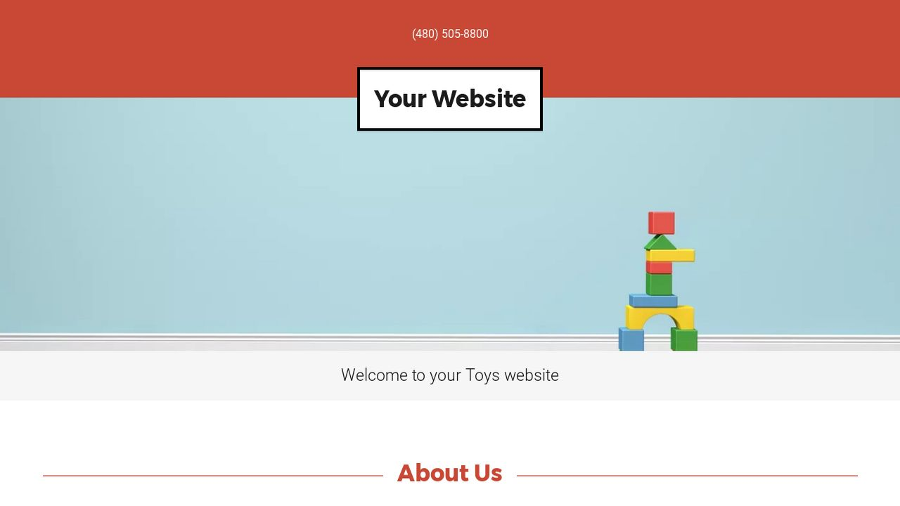 Toys Website: Example 2