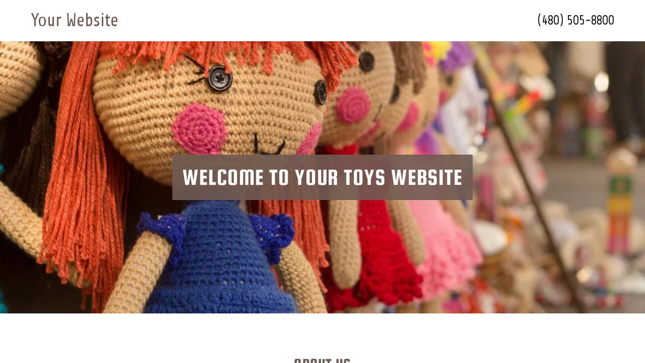 Toys Website: Example 3