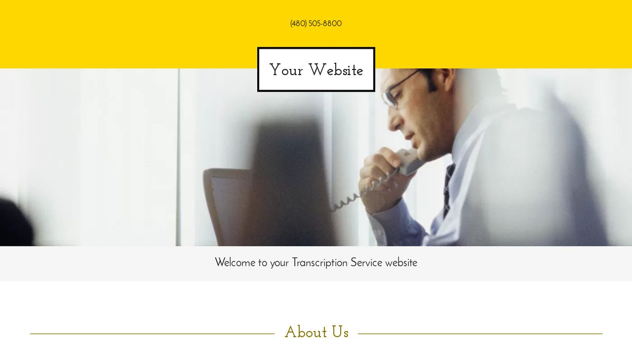 Transcription Service Website: Example 10