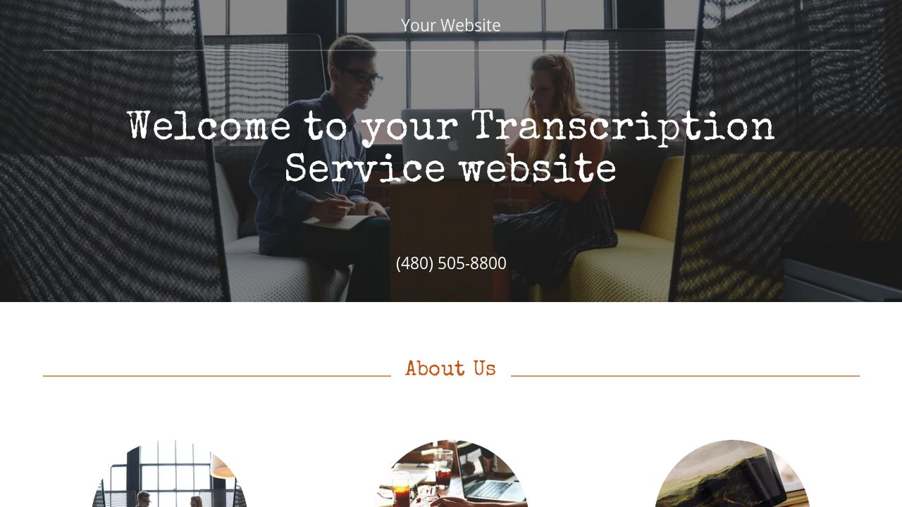 Transcription Service Website: Example 11