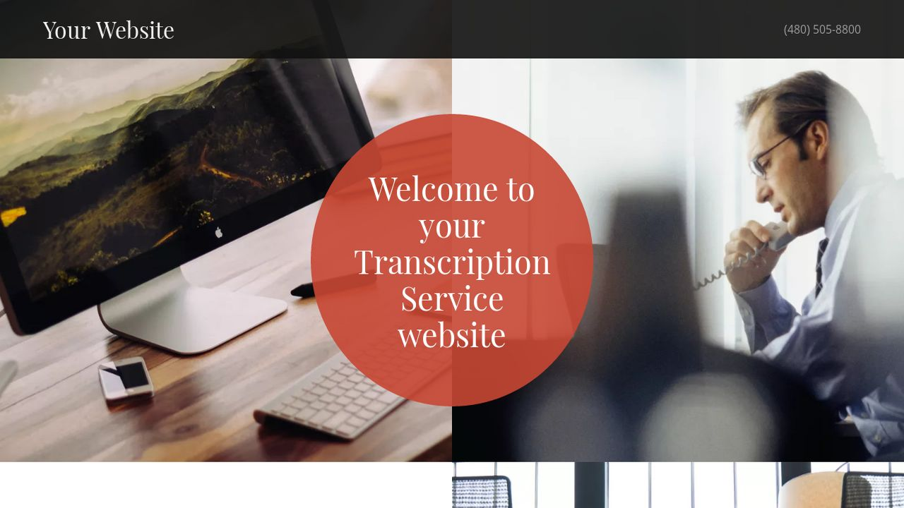 Transcription Service Website: Example 12