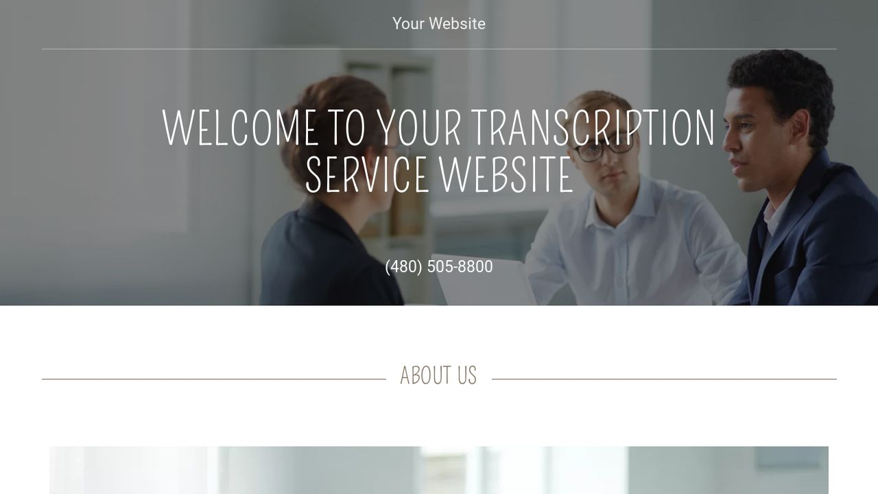 Transcription Service Website: Example 18