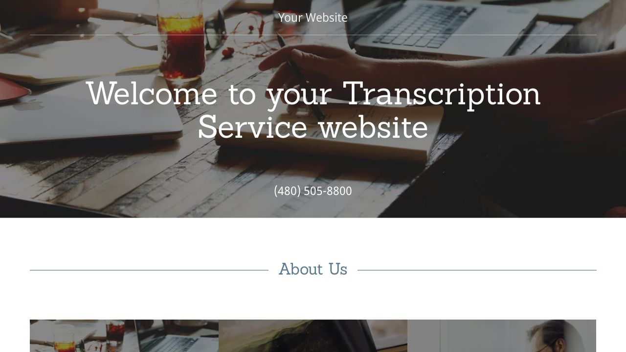 Transcription Service Website: Example 4