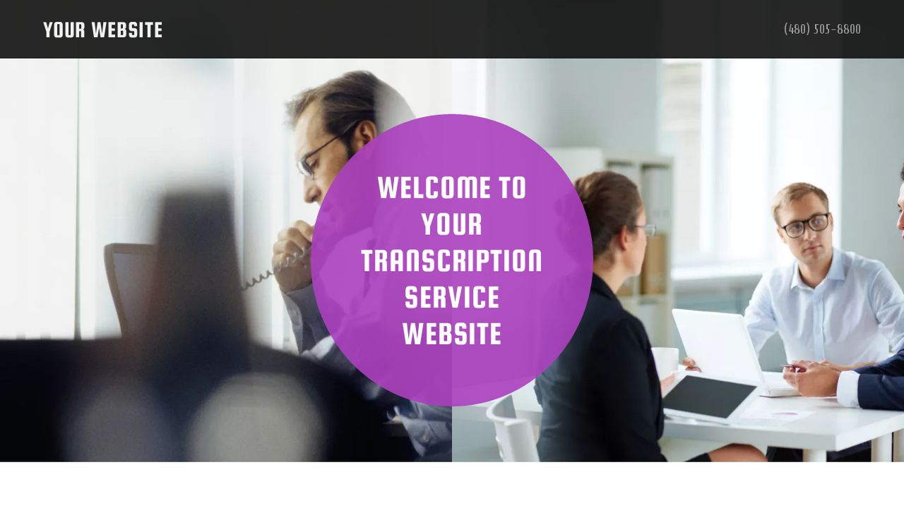 Transcription Service Website: Example 5