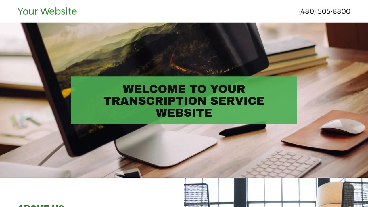 Transcription Service Website: Example 7