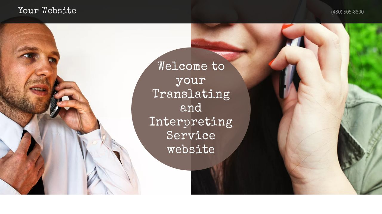 Translating and Interpreting Service Website: Example 10