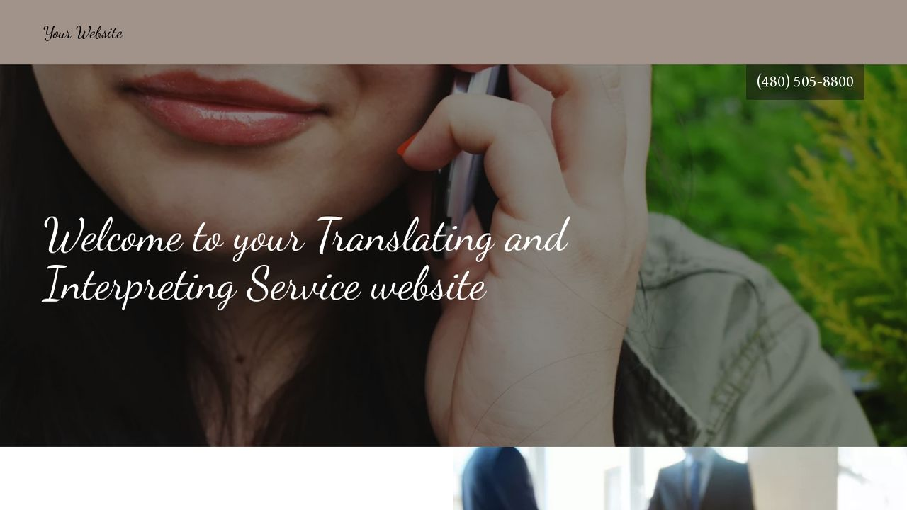 Translating and Interpreting Service Website: Example 13