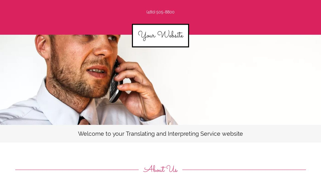 Translating and Interpreting Service Website: Example 15