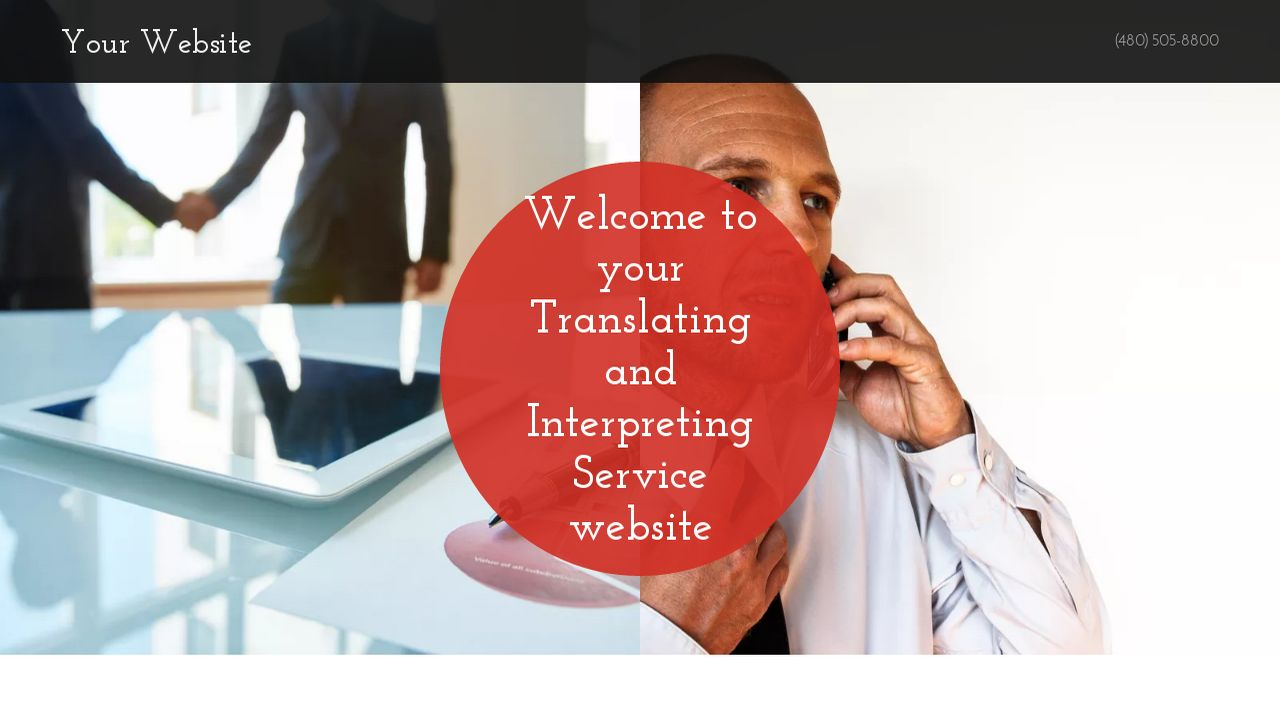 Translating and Interpreting Service Website: Example 17