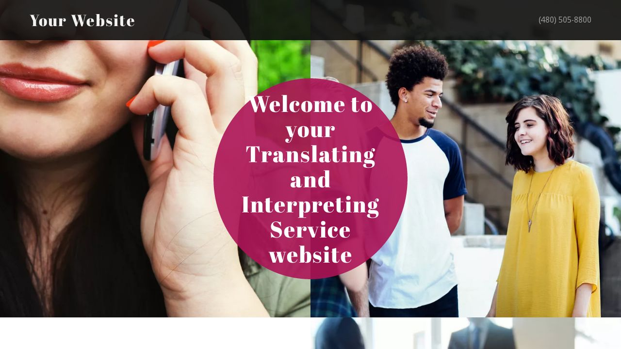 Translating and Interpreting Service Website: Example 3