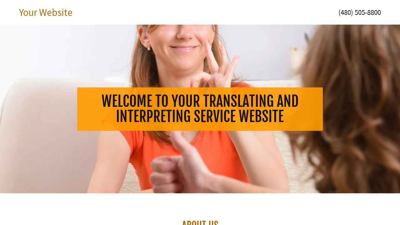 Translating and Interpreting Service Website: Example 4