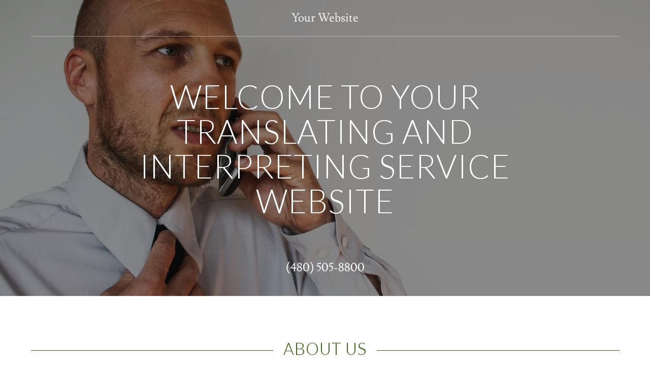 Translating and Interpreting Service Website: Example 5