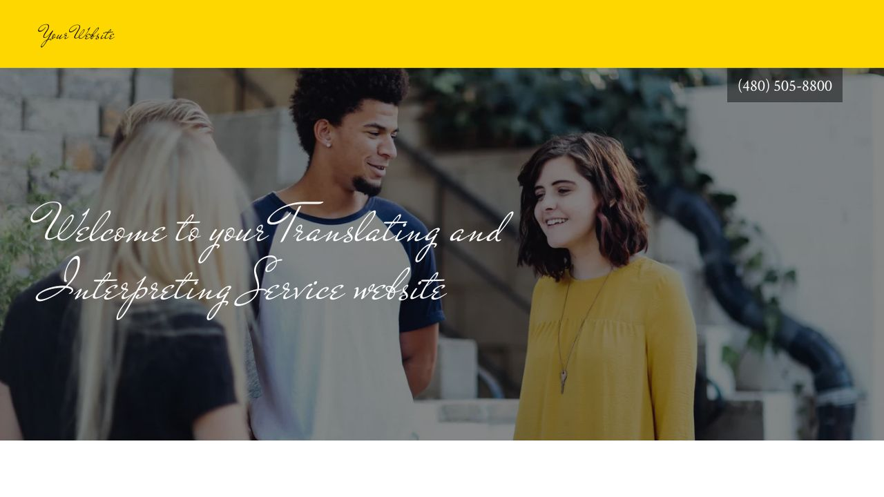 Translating and Interpreting Service Website: Example 6
