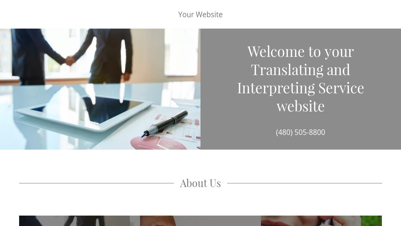 Translating and Interpreting Service Website: Example 7