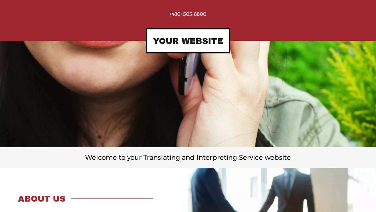 Translating and Interpreting Service Website: Example 8