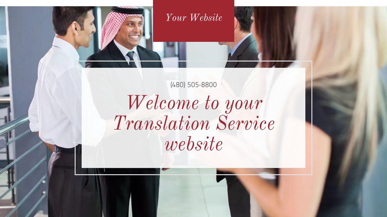 Translations Into Italian: Example 1 Translation Service Website Template