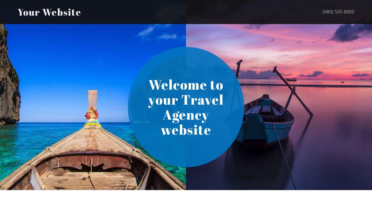 Travel Agency Website >> Travel Agency Website Templates Godaddy
