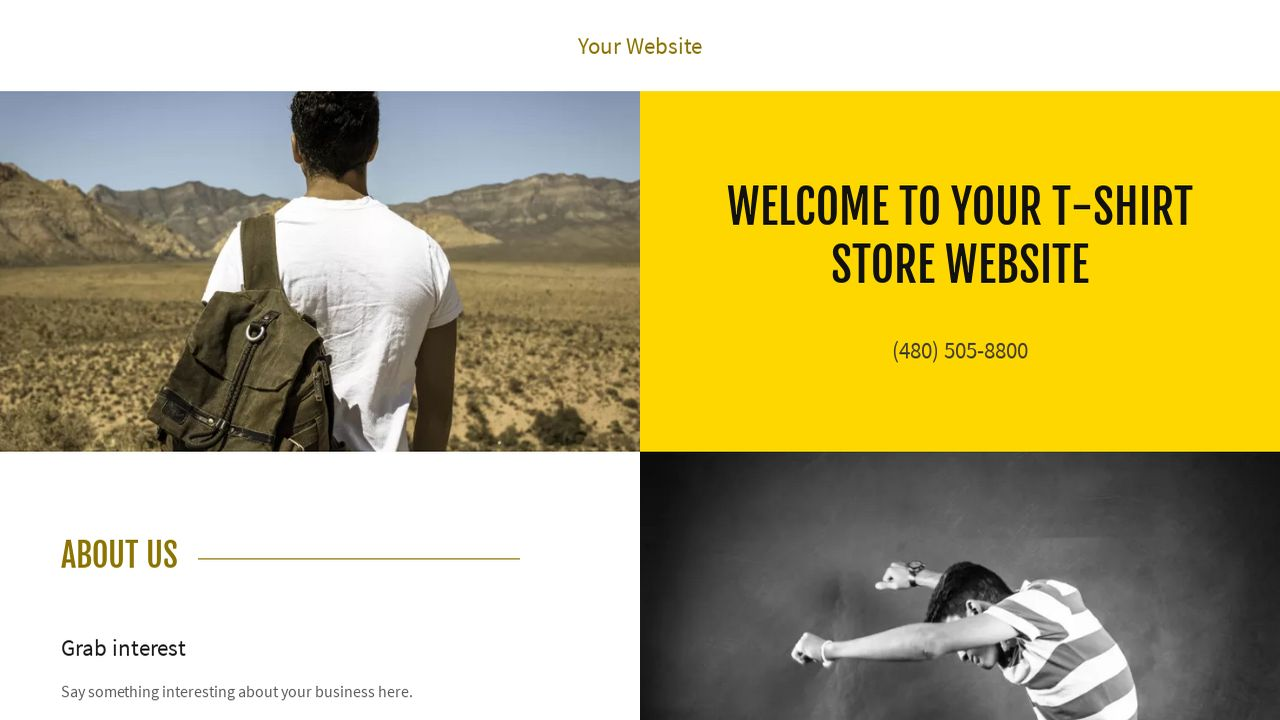t shirt website templates