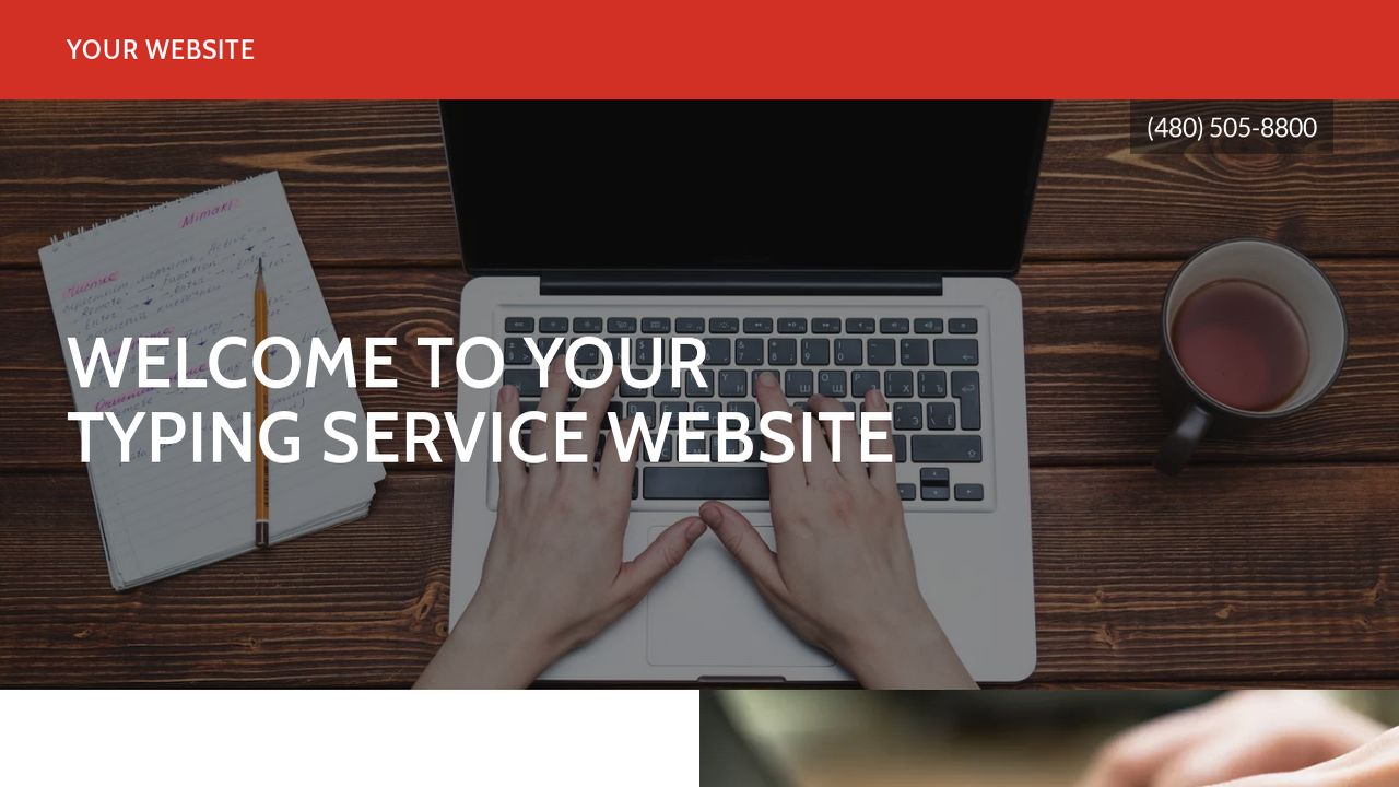 Typing Service Website: Example 11