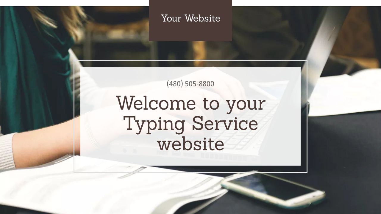 Typing Service Website: Example 13