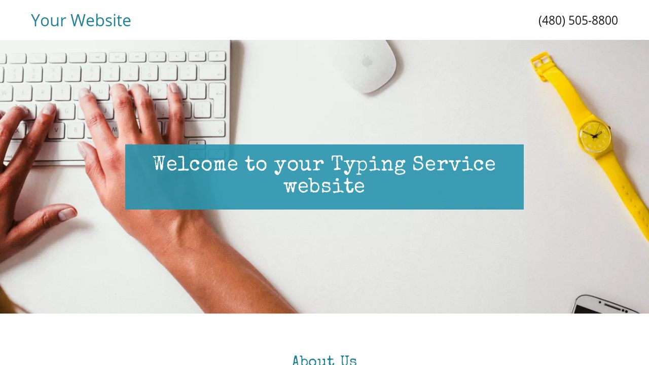 Typing Service Website: Example 15