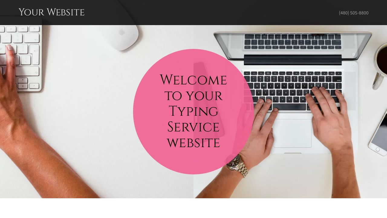 Typing Service Website: Example 2