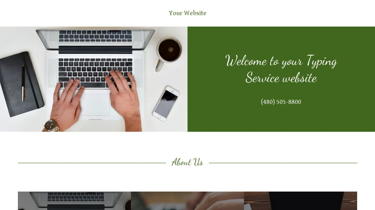 Typing Service Website: Example 3