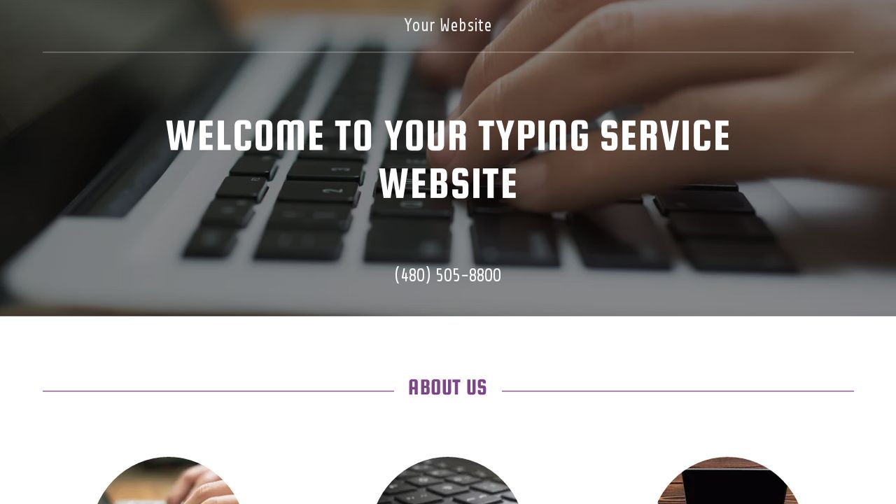 Typing Service Website: Example 5
