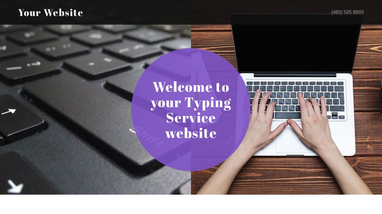 Typing Service Website: Example 9