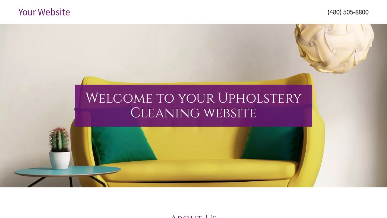 Upholstery Cleaning Website: Example 1