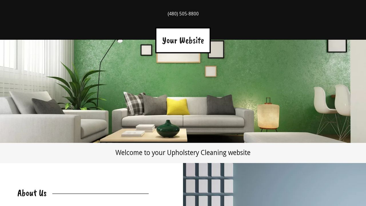 Upholstery Cleaning Website: Example 14