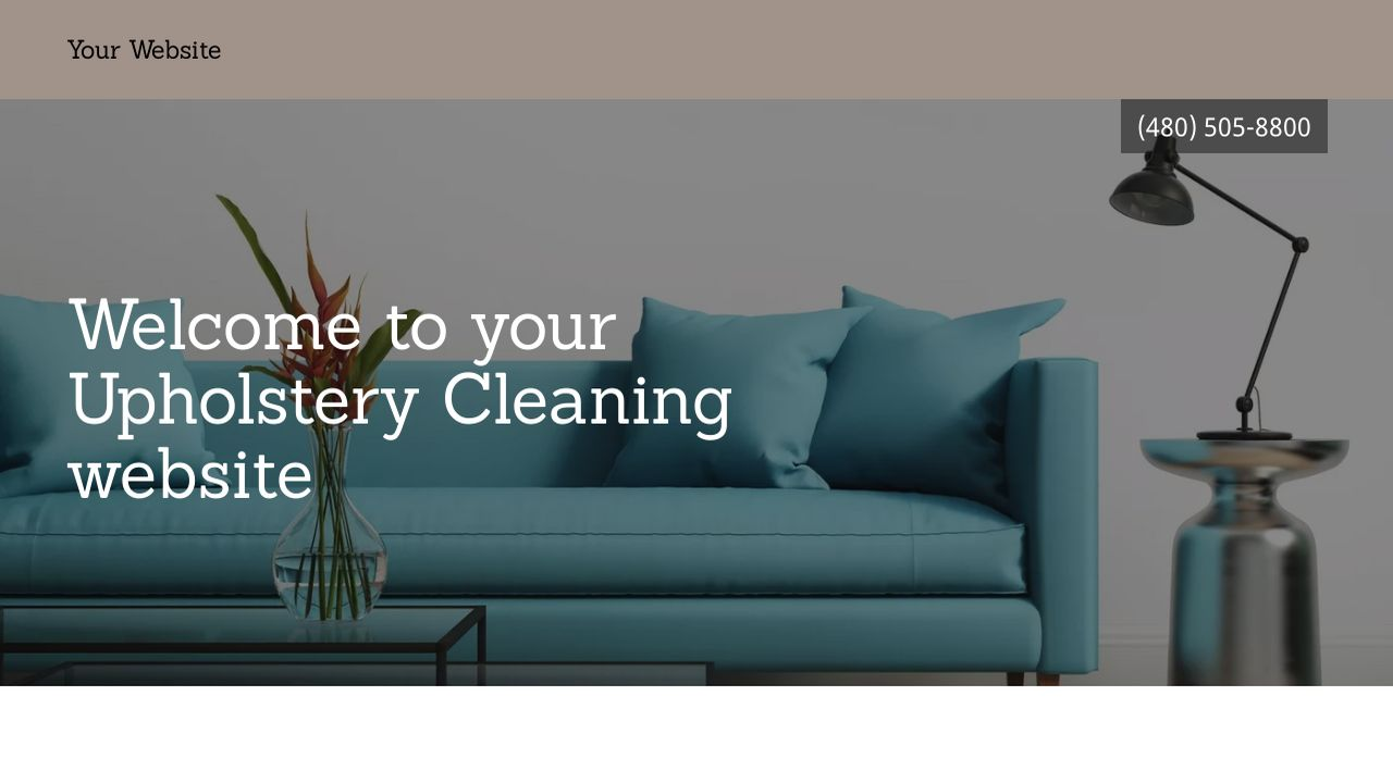 Upholstery Cleaning Website: Example 18
