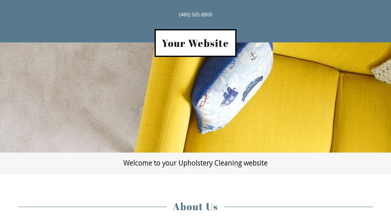 Upholstery Cleaning Website: Example 7