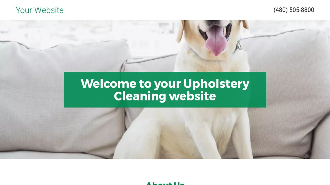 Upholstery Cleaning Website: Example 8