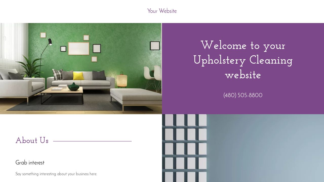 Upholstery Cleaning Website: Example 9