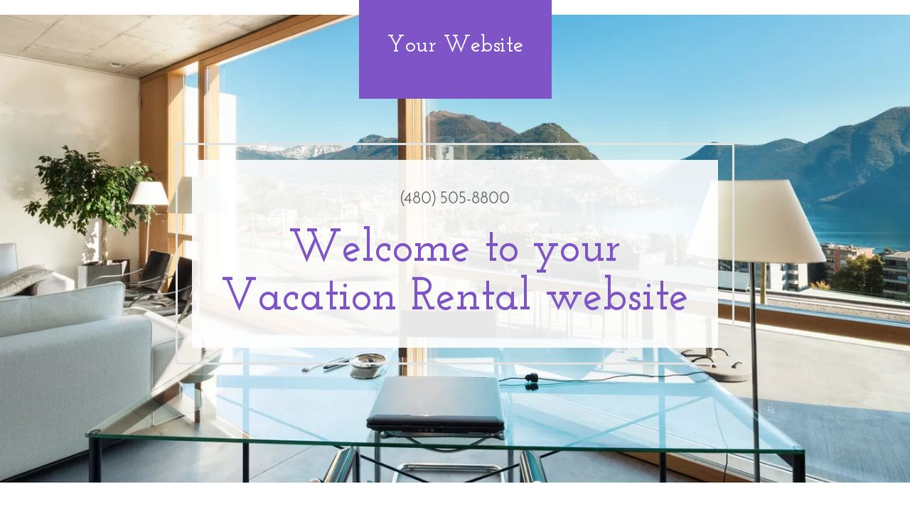 Vacation Rental Website Templates GoDaddy - House for rent advertisement template